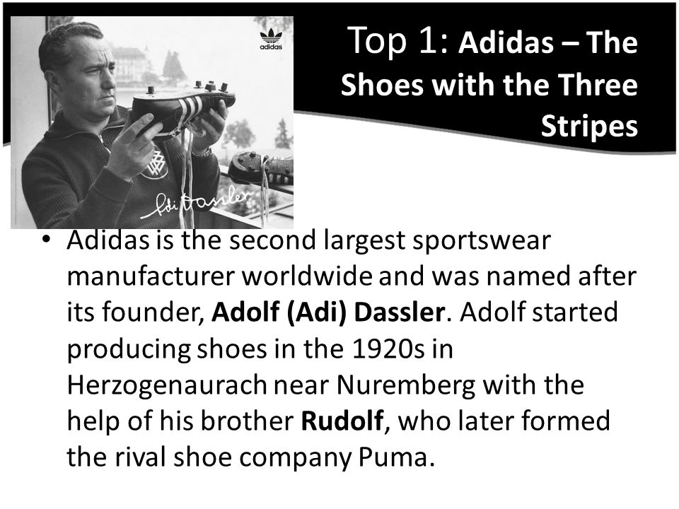 Top 1: Adidas – The Shoes with the Three Stripes