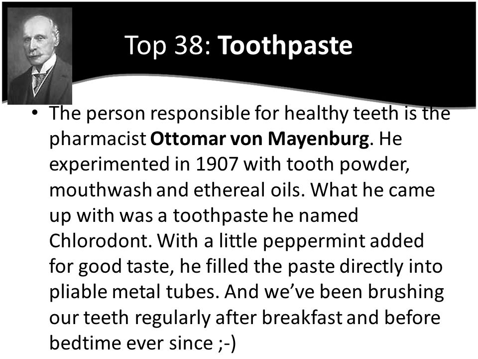 Top 38: Toothpaste