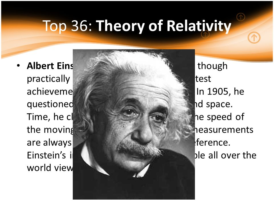 Top 36: Theory of Relativity