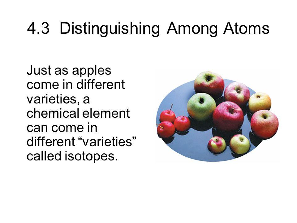 4.3 Distinguishing Among Atoms