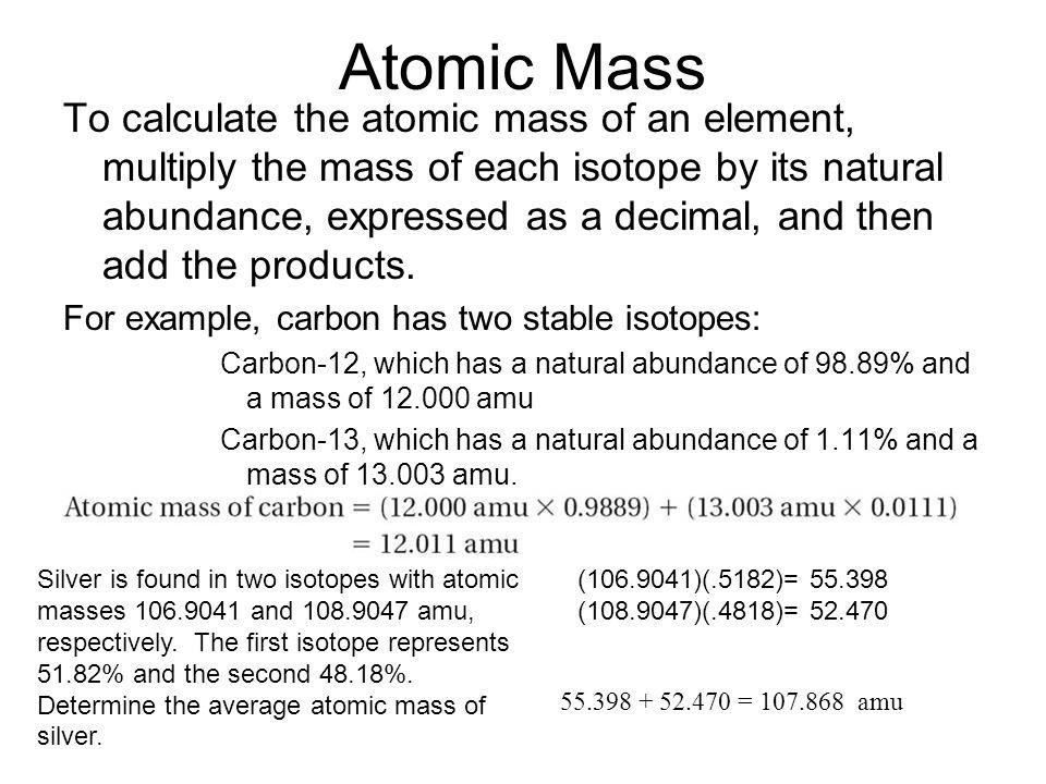 Atomic Mass 4.3.