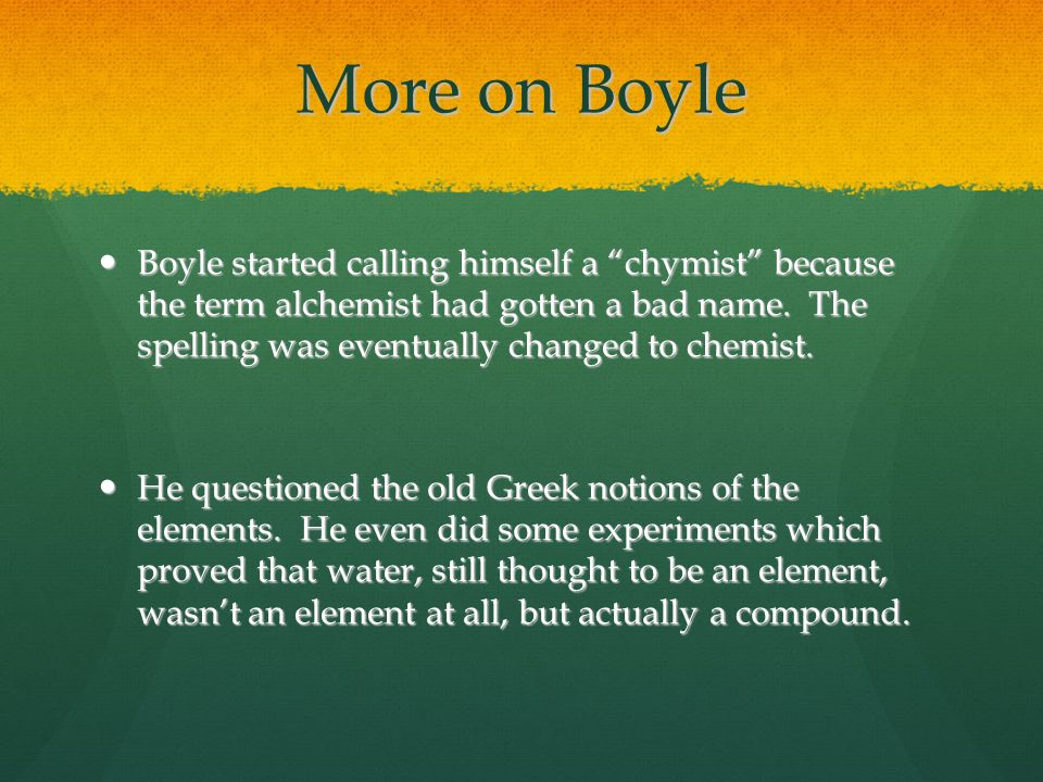 More on Boyle