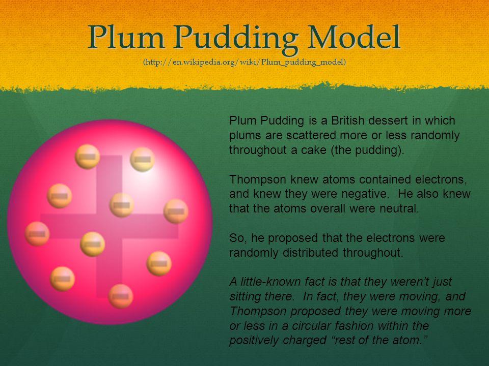 Plum Pudding Model (http://en.wikipedia.org/wiki/Plum_pudding_model)