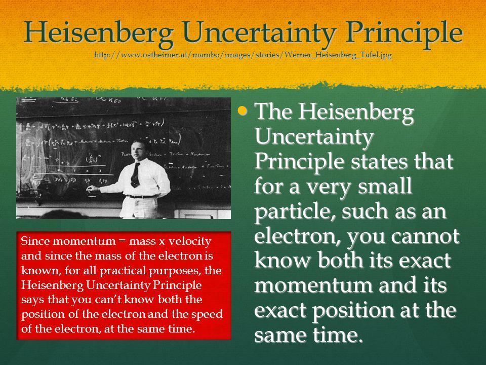 Heisenberg Uncertainty Principle http://www. ostheimer