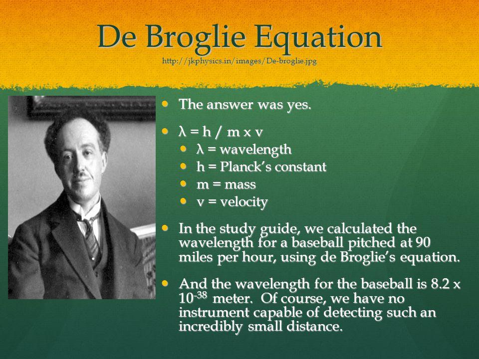 De Broglie Equation http://jkphysics.in/images/De-broglie.jpg