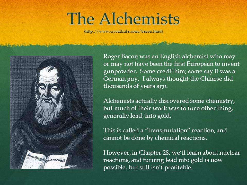 The Alchemists (http://www.crystalinks.com/bacon.html)