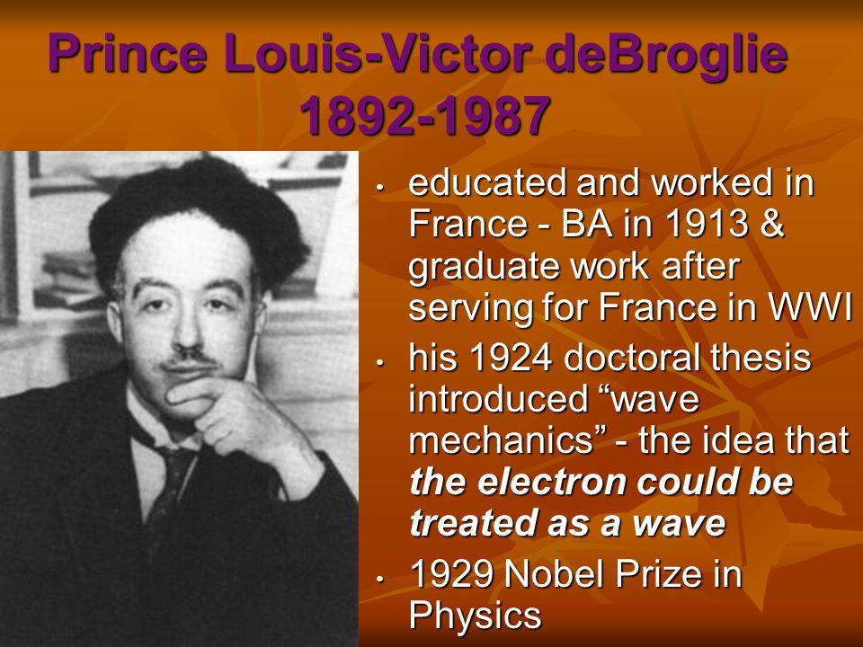 Prince Louis-Victor deBroglie 1892-1987