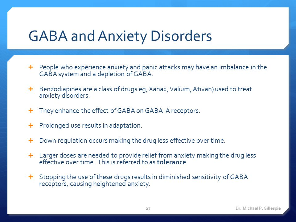GABA and Anxiety Disorders