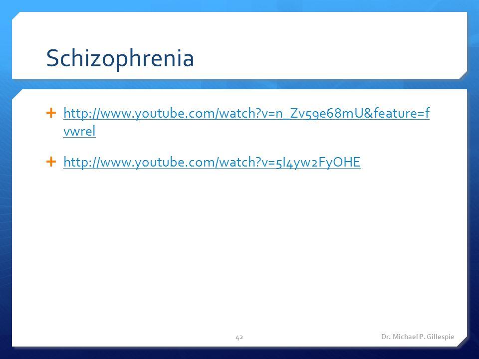 Schizophrenia http://www.youtube.com/watch v=n_Zv59e68mU&feature=f vwrel. http://www.youtube.com/watch v=5I4yw2FyOHE.
