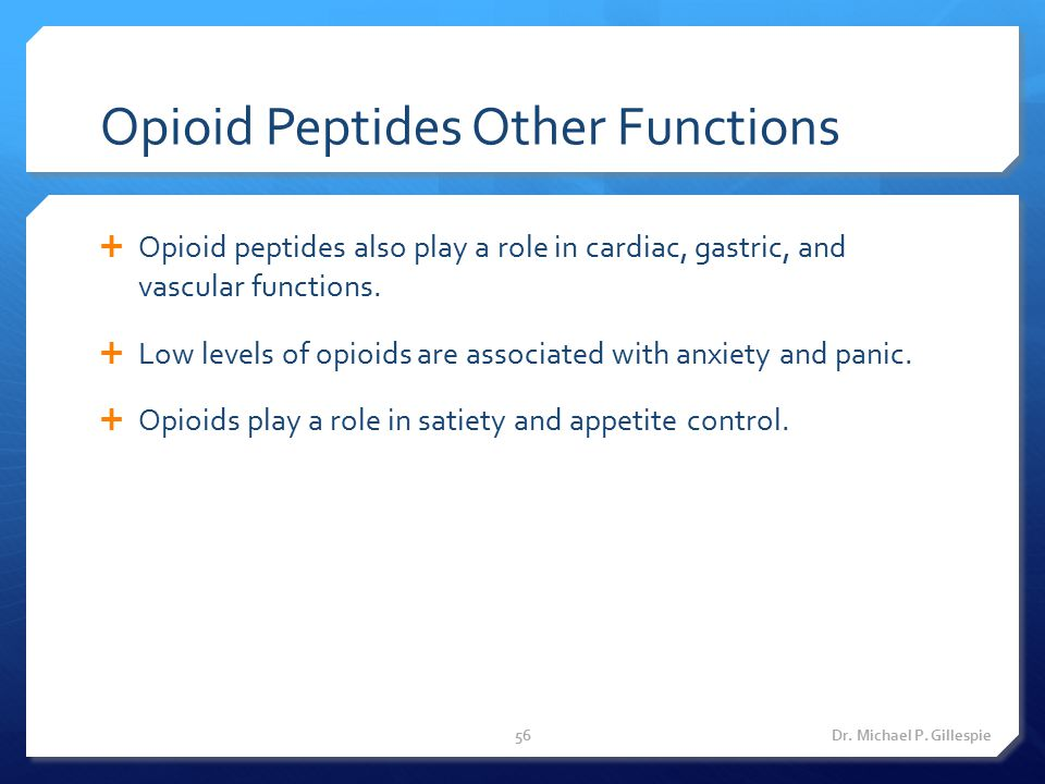 Opioid Peptides Other Functions