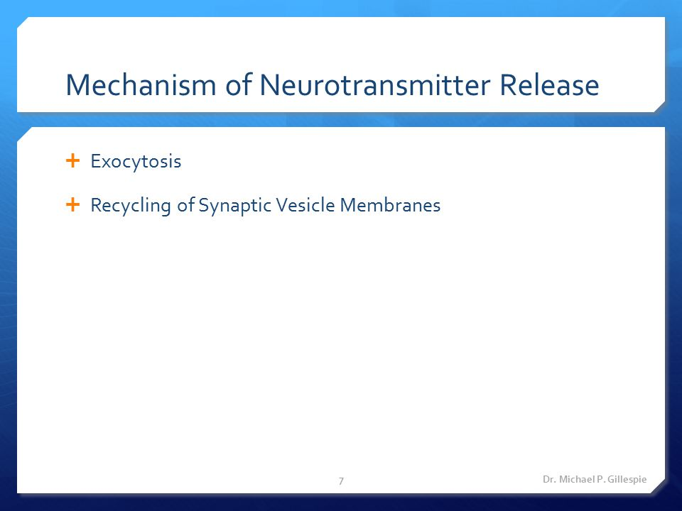 Mechanism of Neurotransmitter Release