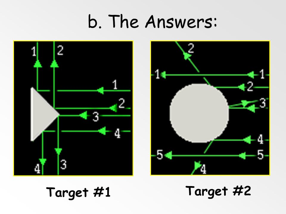 b. The Answers: Target #1 Target #2