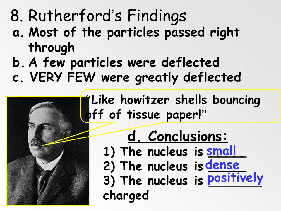 8. Rutherford's Findings