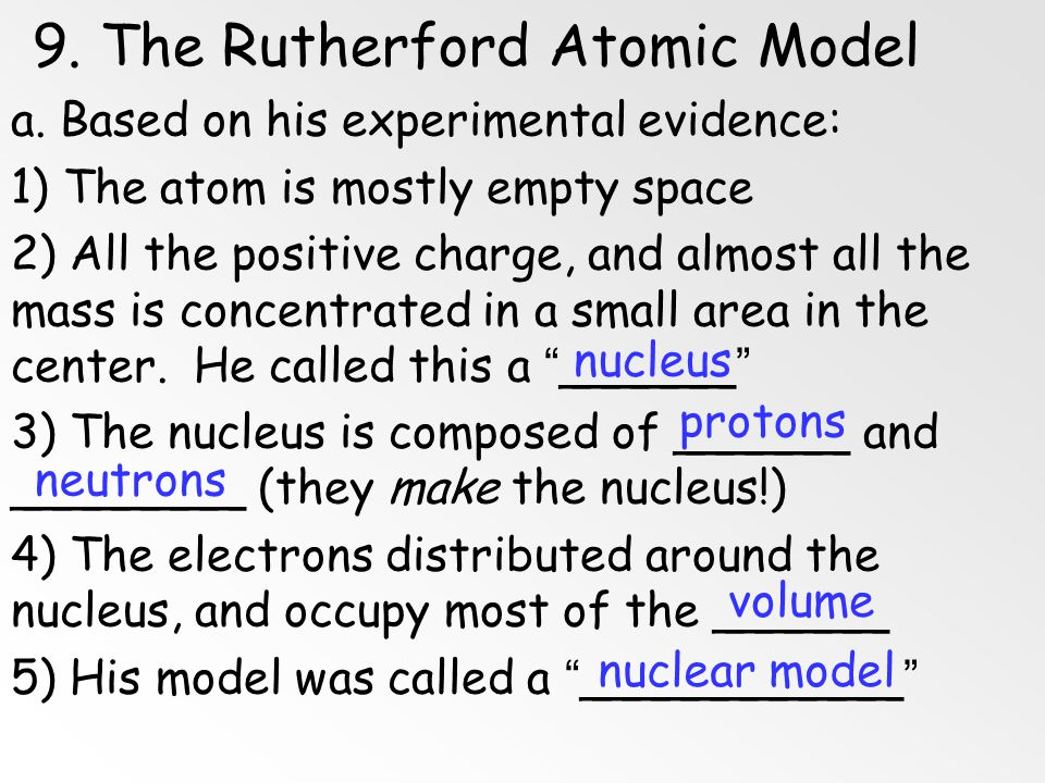 9. The Rutherford Atomic Model