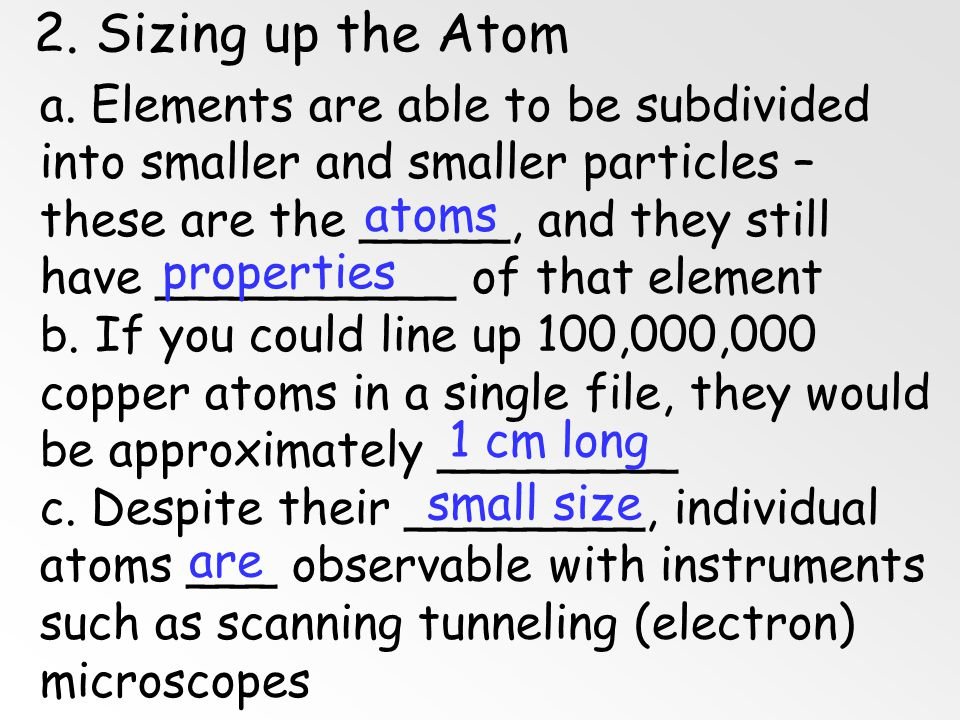 2. Sizing up the Atom