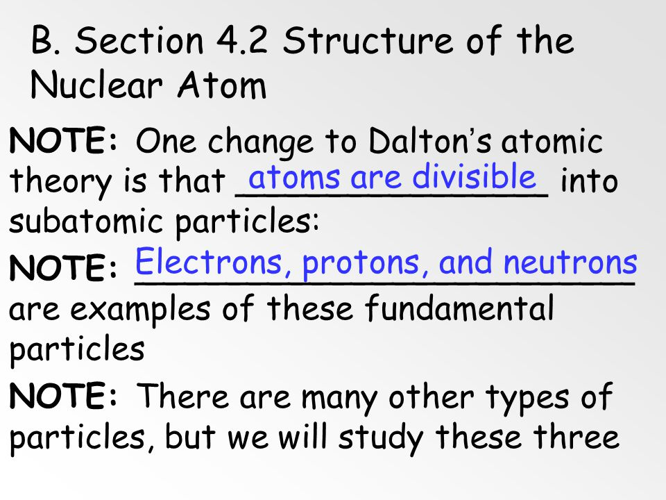 B. Section 4.2 Structure of the Nuclear Atom
