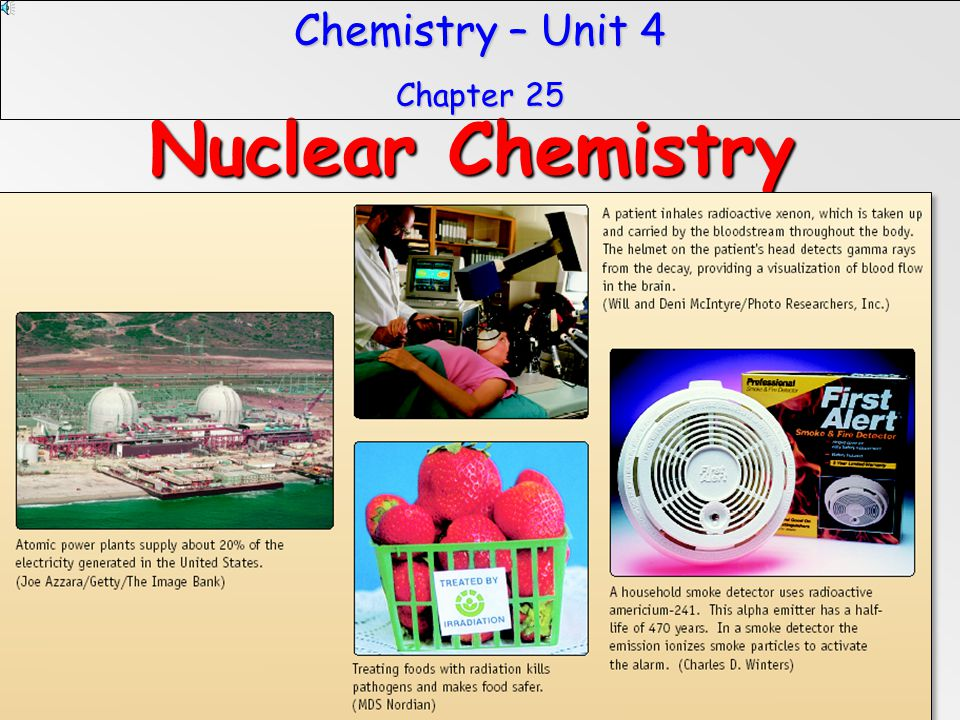 Chemistry – Unit 4 Chapter 25 Nuclear Chemistry 60