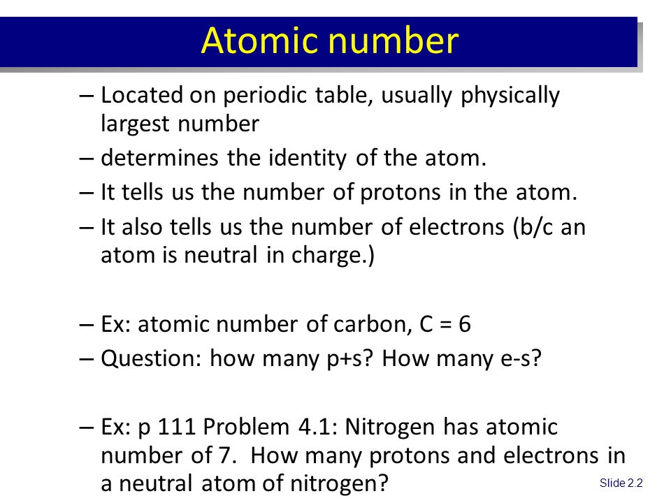 Chapter 4 atomic structure chem ichem ih ppt video online download 5 atomic number located on periodic table urtaz Choice Image