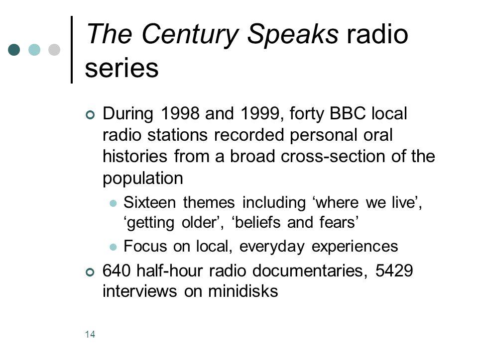 The Century Speaks radio series