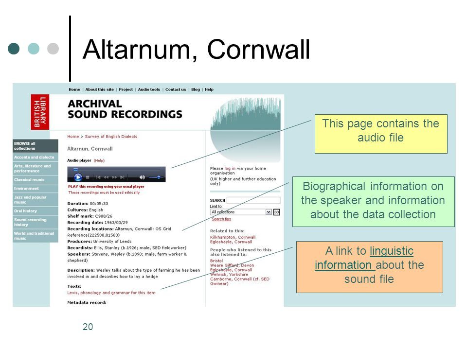 Altarnum, Cornwall This page contains the audio file