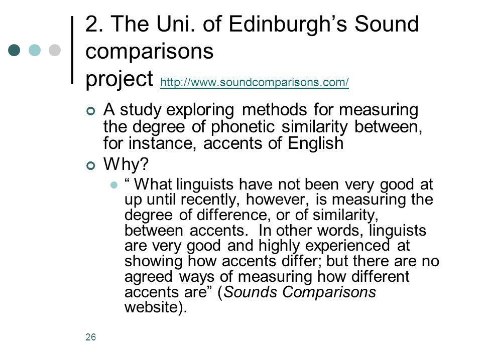2. The Uni. of Edinburgh's Sound comparisons project http://www