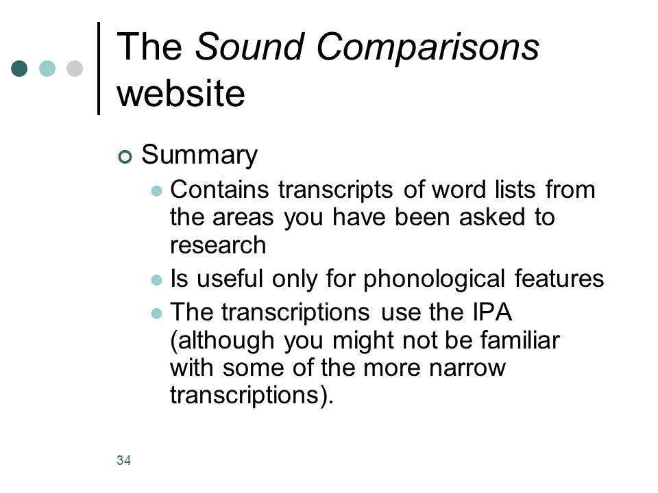 The Sound Comparisons website