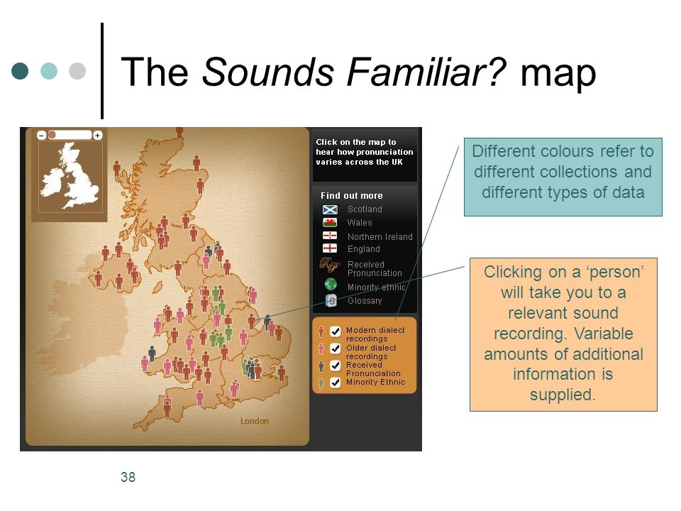 The Sounds Familiar map