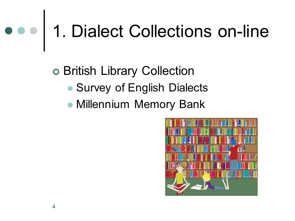 1. Dialect Collections on-line