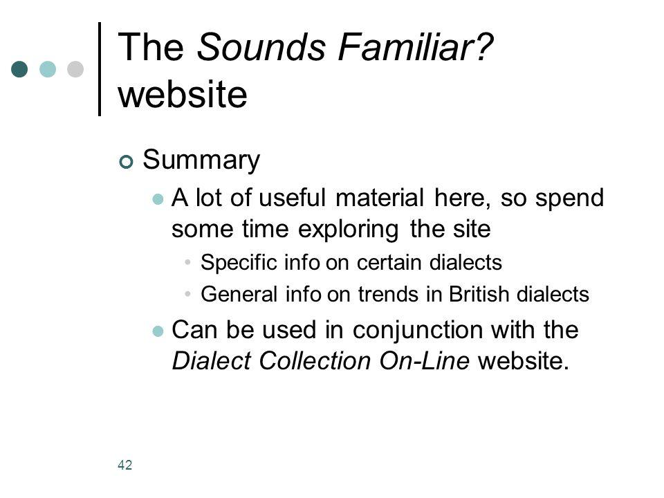 The Sounds Familiar website