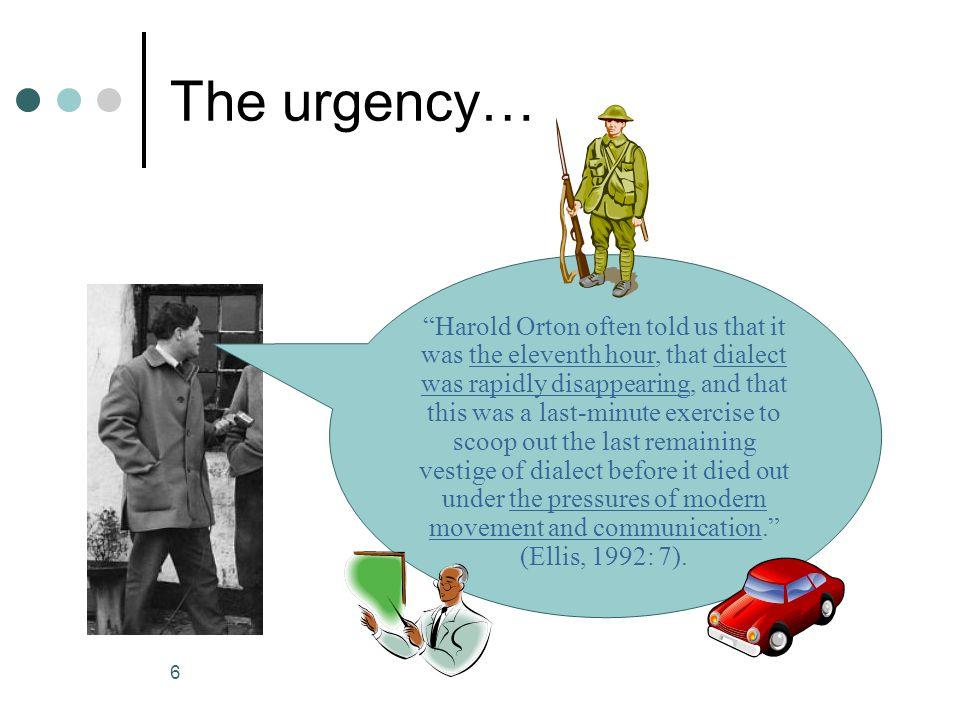 The urgency…