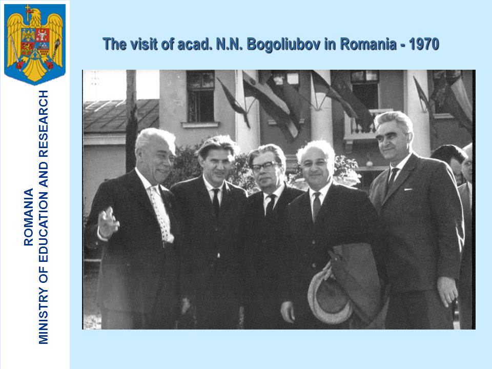 The visit of acad. N.N. Bogoliubov in Romania - 1970