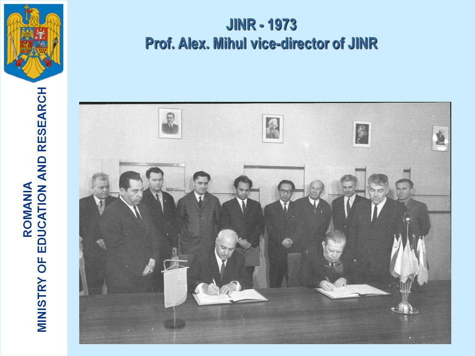 JINR - 1973 Prof. Alex. Mihul vice-director of JINR
