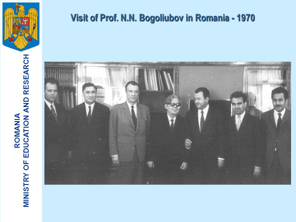 Visit of Prof. N.N. Bogoliubov in Romania - 1970