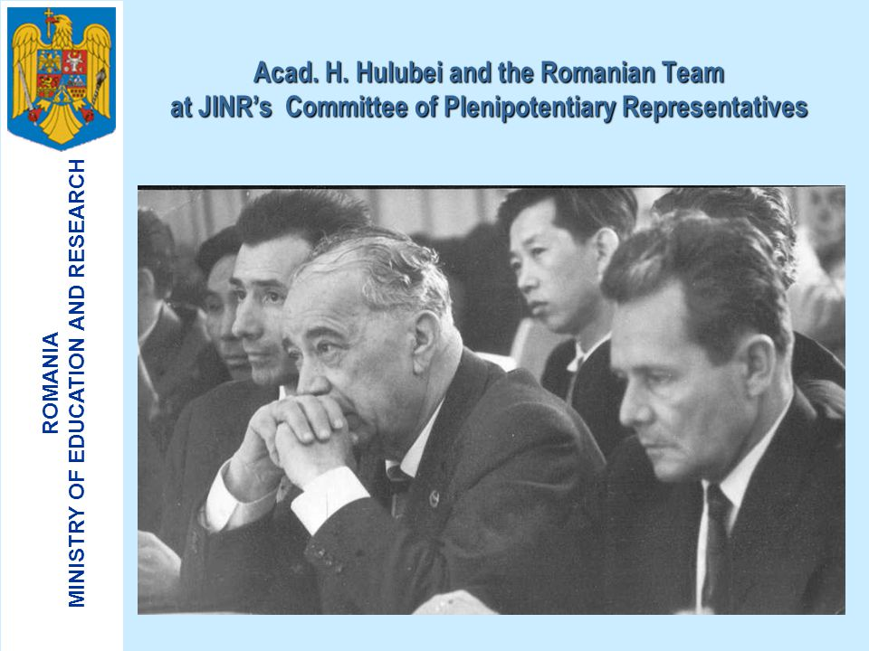 Acad. H. Hulubei and the Romanian Team at JINR's Committee of Plenipotentiary Representatives