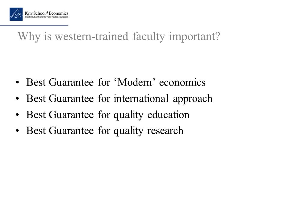 Why is western-trained faculty important
