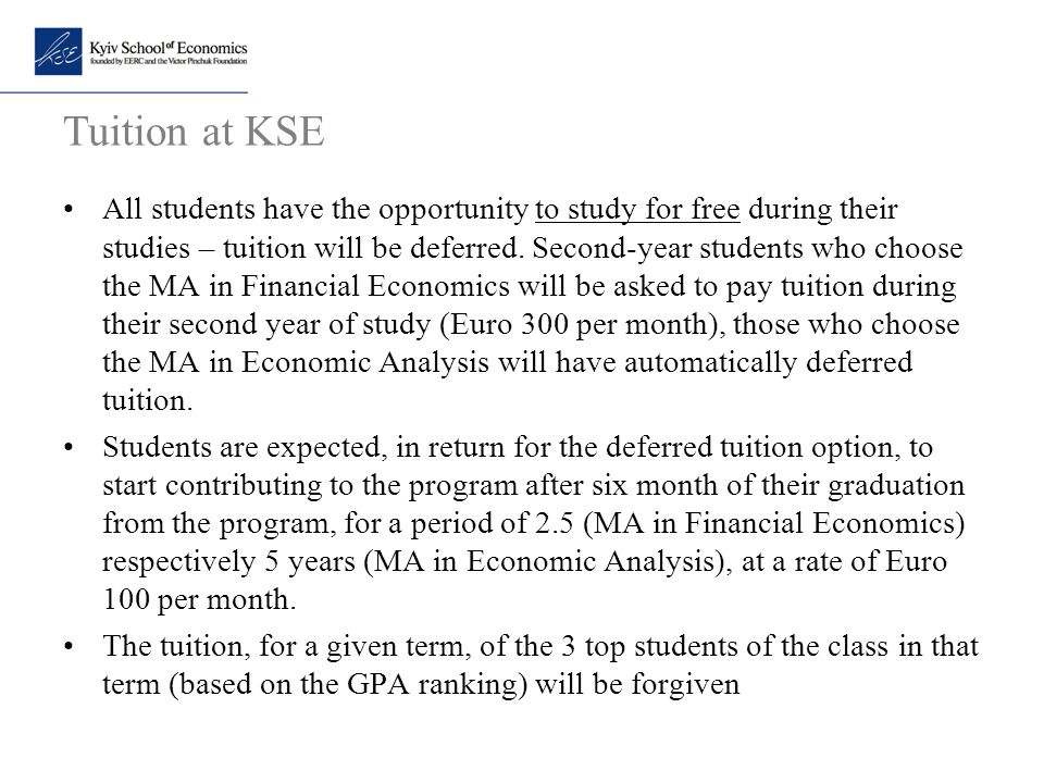 Tuition at KSE