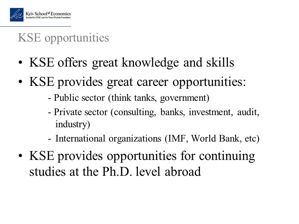 KSE offers great knowledge and skills