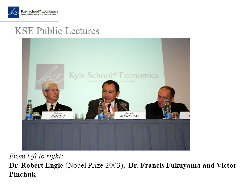 KSE Public Lectures From left to right: