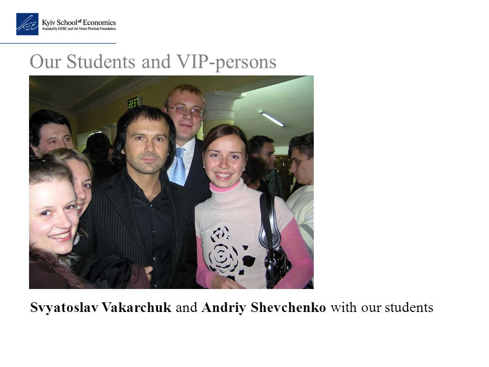 Our Students and VIP-persons