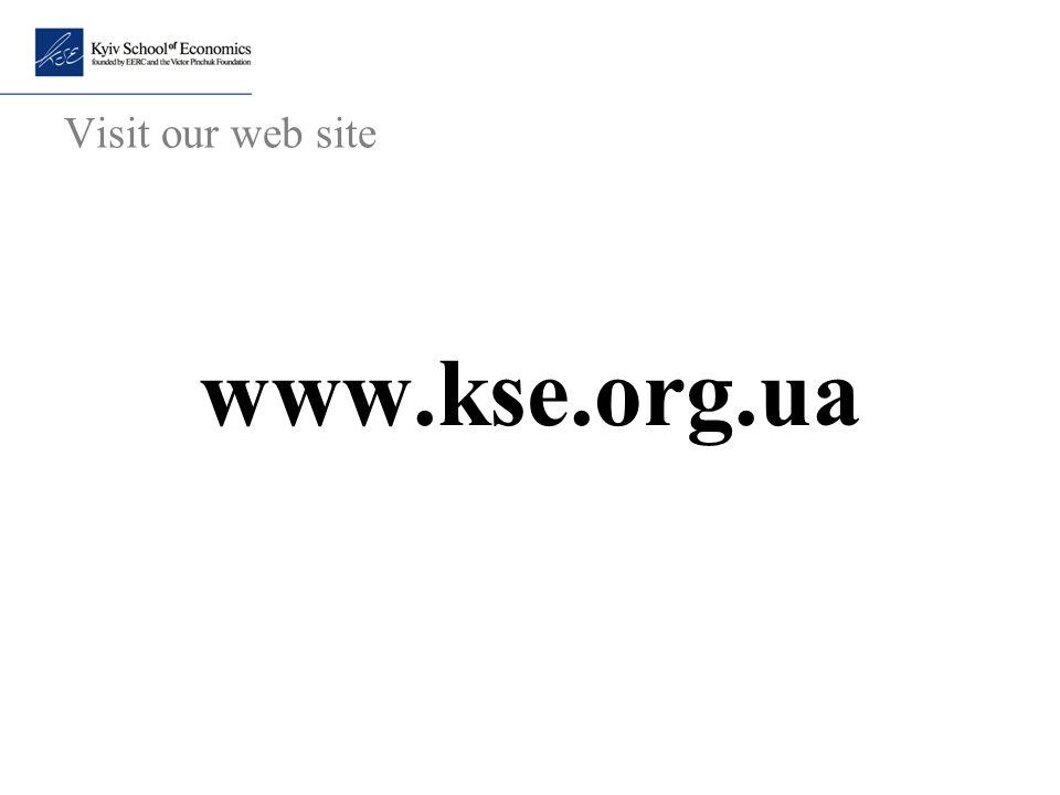 Visit our web site www.kse.org.ua