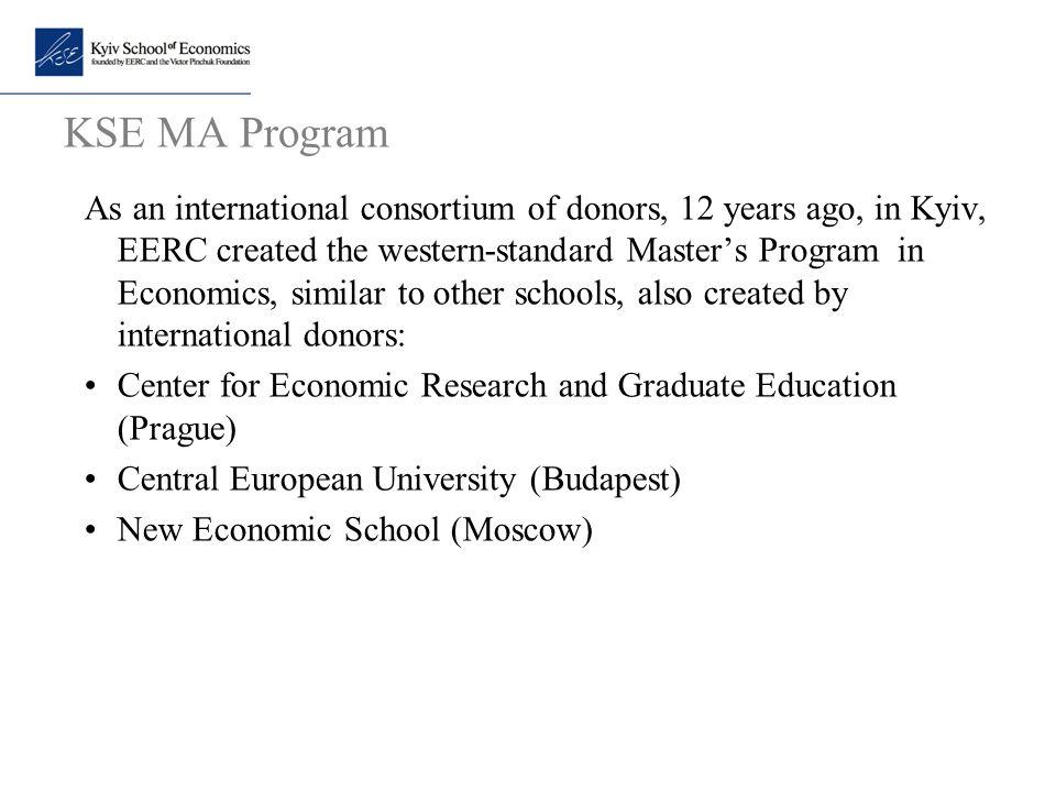 KSE MA Program