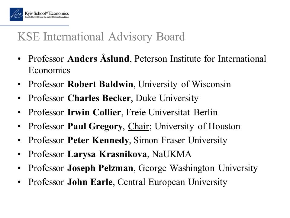 KSE International Advisory Board