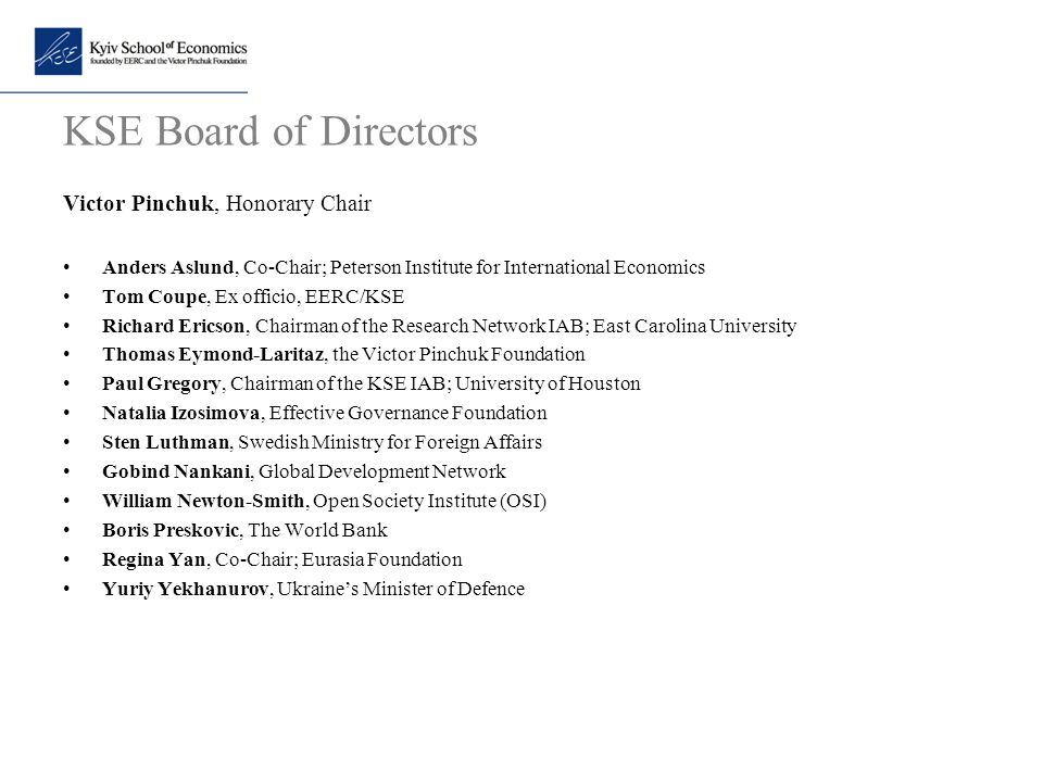 KSE Board of Directors Victor Pinchuk, Honorary Chair