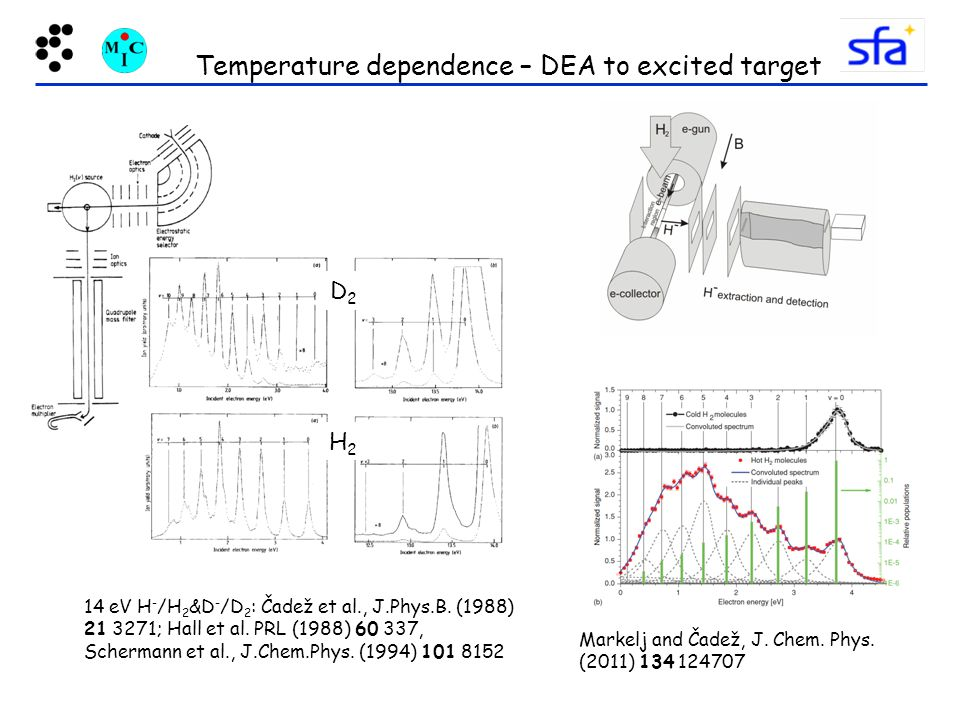 Temperature dependence – DEA to excited target