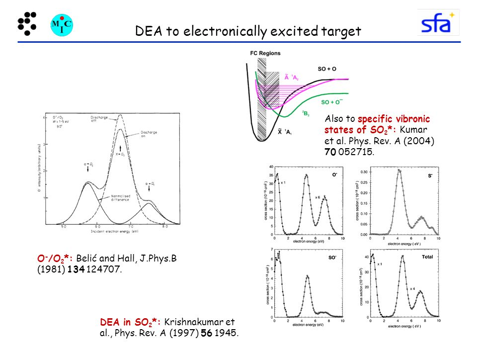 DEA to electronically excited target