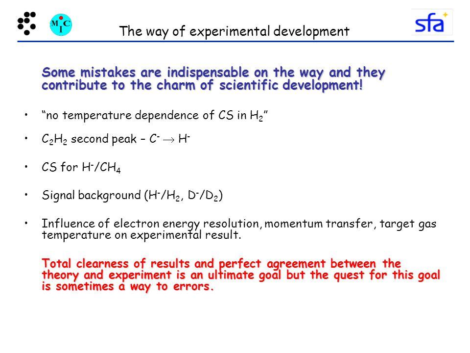 The way of experimental development