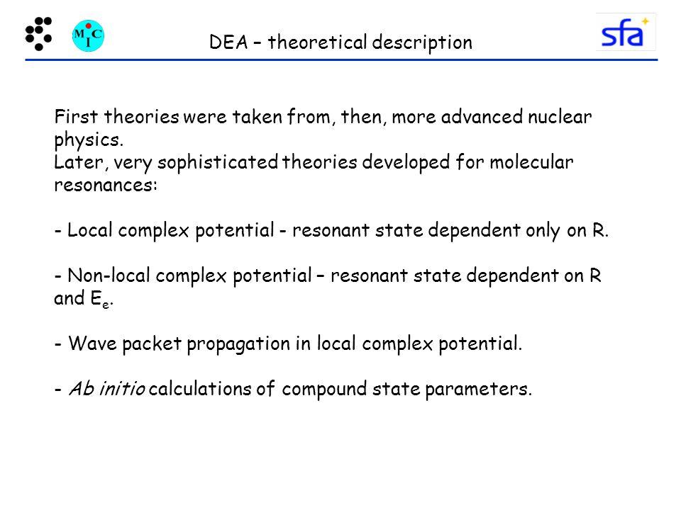 DEA – theoretical description