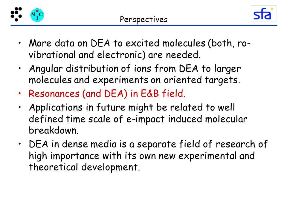 Resonances (and DEA) in E&B field.