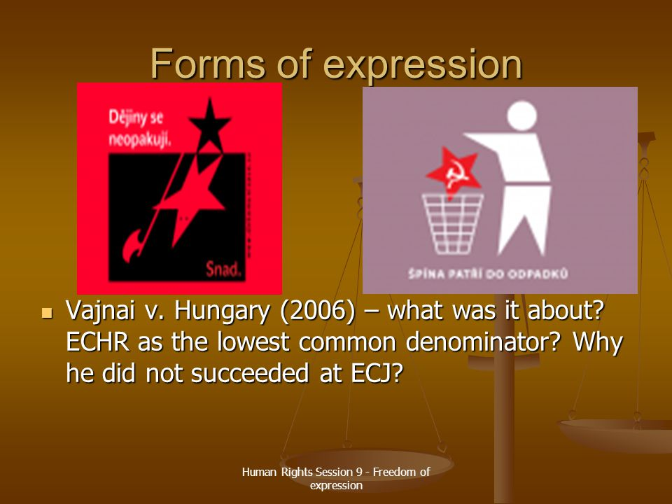 Human Rights Session 9 - Freedom of expression