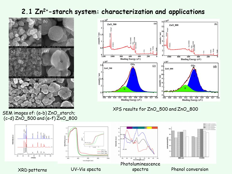 2.1 Zn2+-starch system: characterization and applications